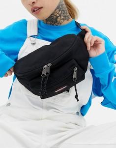 Черная сумка-кошелек на пояс с двумя карманами Eastpak - Черный