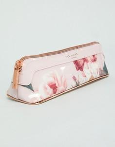Розовый пенал с цветочным принтом Ted Baker - Розовый