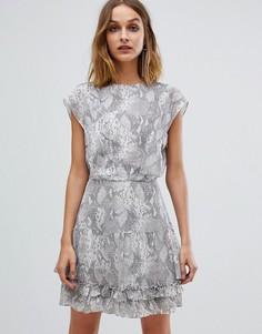 Платье с принтом AllSaints Еvely - Серый