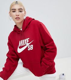 Худи с логотипом-галочкой Nike Sb - Красный