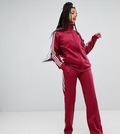 Красные широкие спортивные брюки с тремя полосками adidas Originals - Красный