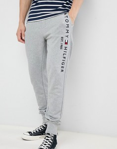 Серые меланжевые джоггеры с манжетами и логотипом Tommy Hilfiger - Серый