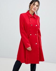 Шерстяное пальто с фигурными краями Ted Baker Blarnch - Красный
