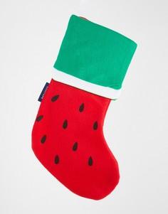 Рождественский носок Sunnylife - Красный