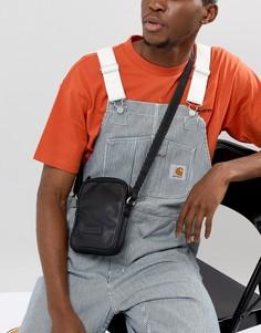 Черная кожаная сумка ASOS DESIGN - Черный