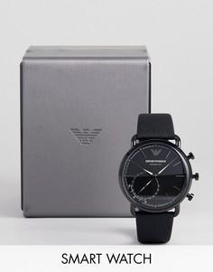 Гибридные смарт-часы Emporio Armani ART3030 Aviator Connected 43 мм - Черный