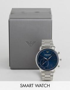 Гибридные смарт-часы Emporio Armani ART3028 Aviator Connected - Серебряный