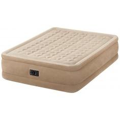 Надувная кровать intex ultra plush bed 152х203х46см 64458