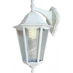Садово-парковый светильник feron 6102 60w 230v e27 170х200х320мм белый 11053