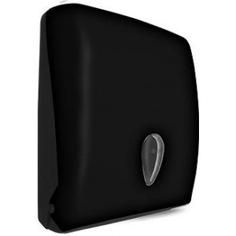 Диспенсер для бумажных полотенец nofer черный 04020.с