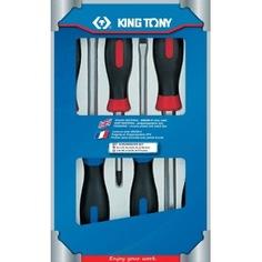 Набор отверток в коробке (силовые, 6 предметов) king tony 30206mr