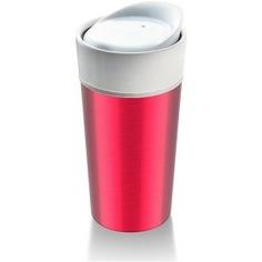 Термокружка asobu thermo steel 0.4 л, розовая cs14 metallic-fuchsia