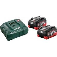Набор basic-set(2 аккумулятора lihd 5.5 а*ч +зарядное устройство asc30-36) metabo 685122000