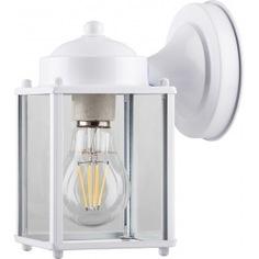 Садово-парковый светильник feron pl200 60w 230v e27 155х105х205 мм белый 11877