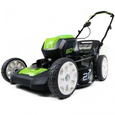 Газонокосилка аккумуляторная бесщеточная greenworks gd80lm53 2500707