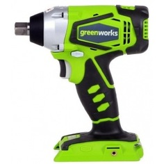 Аккумуляторный ударный бесщеточный гайковерт greenworks g24iw