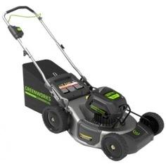 Аккумуляторная бесщеточная газонокосилка greenworks 2502407