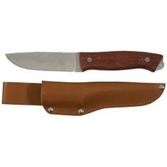 Нож туриста (нержавеющая сталь, деревянная ручка, лезвие 105 мм) fit it 10730