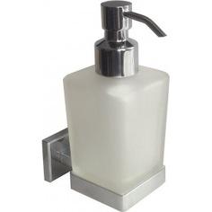 Дозатор для жидкого мыла матовое стекло сплав металлов milardo labrador mi labsmg0m46