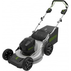 Самоходная бесщеточная аккумуляторная газонокосилка greenworks 82v 2502507