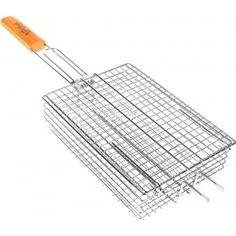 Глубокая решетка-гриль для мелких кусочков со съемной крышкой royalgrill 25х18см 80-033