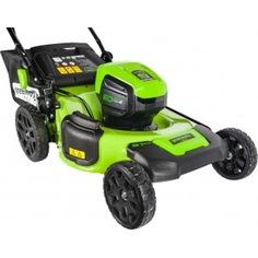 Аккумуляторная газонокосилка greenworks gd60lm51hpk4 60v 2502707ub