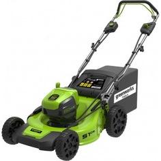 Самоходная аккумуляторная газонокосилка greenworks gd60lm51spk4 60v 2505607ub