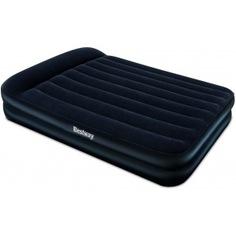 Надувная кровать со встроенным насосом bestway premium air bed-air pump 203х152х46 см 67403 bw