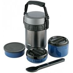 Многофункциональный термос для еды thermos jbg-2000 синий, 2 л 150516