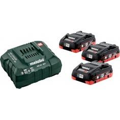 Набор basic-set (3 аккумулятора lihd 4.0 ач/18в+зарядное устройство asc30-36) metabo 685132000