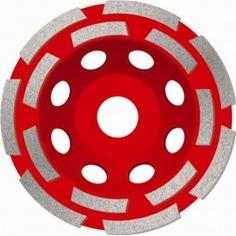 Чашка алмазная двухрядная по бетону премиум msh125 (125х22.2 мм) адель кк04659