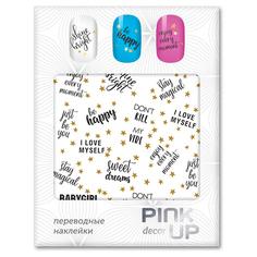 Наклейки для ногтей переводные PINK UP NAIL DESIGN тон 586