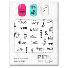 Наклейки для ногтей переводные PINK UP NAIL DESIGN тон 589