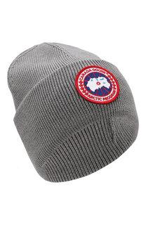 Шерстяная шапка с логотипом бренда Canada Goose