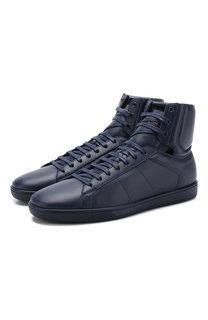 Высокие кожаные кеды Court Classic на шнуровке Saint Laurent