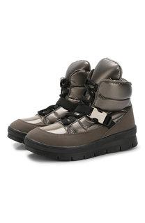 Утепленные ботинки на шнуровке Jog Dog