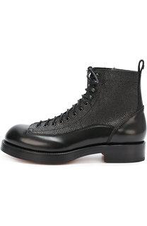 Высокие кожаные ботинки с тиснением Dsquared2