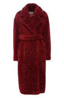 Двубортное пальто в поясом BOSS