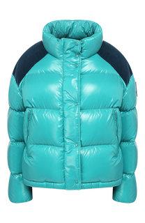 Утепленная куртка с высоким воротником Moncler