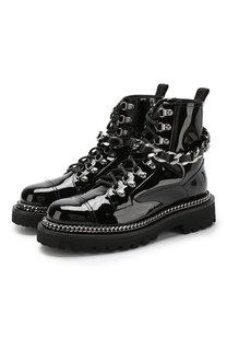 Лаковые ботинки Army с декоративной отделкой ранта Balmain