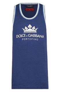 Хлопковая майка с круглым вырезом Dolce & Gabbana