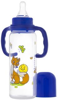 Бутылочка для кормления Курносики Колобок с ручками с силиконовой соской 6мес.+ 250мл., 1шт.