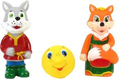 Детские игрушки для ванной Играем вместе Лиса, волк и колобок, 1шт.