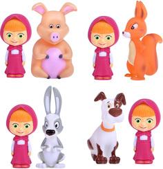Детские игрушки для ванной Играем вместе Маша и медведь с животными, 1шт.