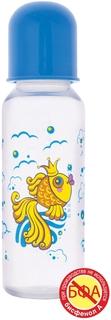 Бутылочка для кормления Курносики Золотая рыбка с силиконовой соской 0+ 250 мл, 1шт.