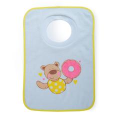 Детский нагрудный фартук Be2Me Нагрудник для кормления Be2Me махровый на резинке салатовый, 1шт.