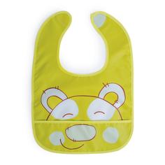 Детский нагрудный фартук Be2Me Нагрудник для кормления Be2Me с карманом на липучке салатовый, 1шт.