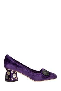 Бархатные туфли с отделкой Dolce&;Gabbana