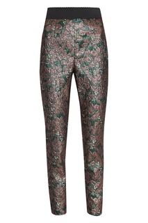 Жаккардовые брюки с растительным узором Dolce&;Gabbana