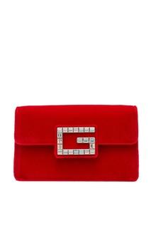Красная сумка с отделкой Gucci